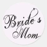 Naughy Grunge Script - Bride's Mom Black Sticker