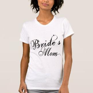 Naughy Grunge Script - Bride's Mom Black T-Shirt