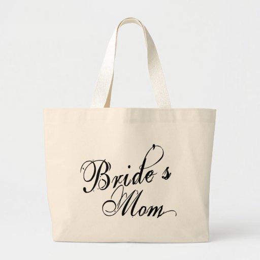 Naughy Grunge Script - Bride's Mom Black Tote Bag