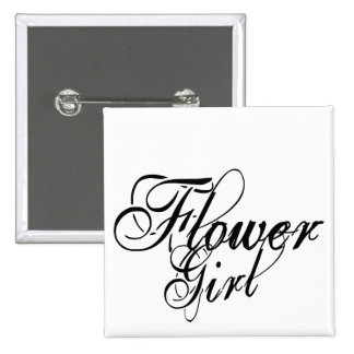 Naughy Grunge Script - Flower Girl Black Pin