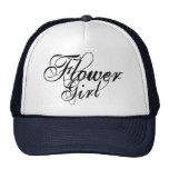 Naughy Grunge Script - Flower Girl Black Trucker Hat