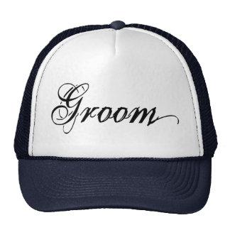 Naughy Grunge Script - Groom Black Trucker Hat