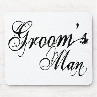 Naughy Grunge Script - Groom's Man Black Mouse Pads