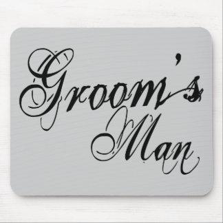 Naughy Grunge Script - Groom's Man Black Mousepads