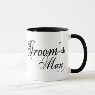 Naughy Grunge Script - Groom's Man Black Mug