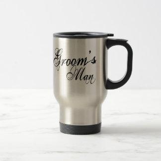 Naughy Grunge Script - Groom's Man Black Travel Mug