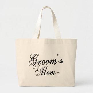 Naughy Grunge Script - Groom's Mom Black Bag