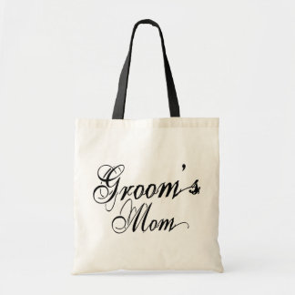 Naughy Grunge Script - Groom's Mom Black Canvas Bags