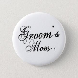 Naughy Grunge Script - Groom's Mom Black Button