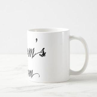 Naughy Grunge Script - Groom's Mom Black Coffee Mug