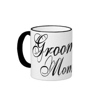 Naughy Grunge Script - Groom's Mom Black Mug