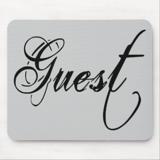 Naughy Grunge Script - Guest Black Mouse Pads