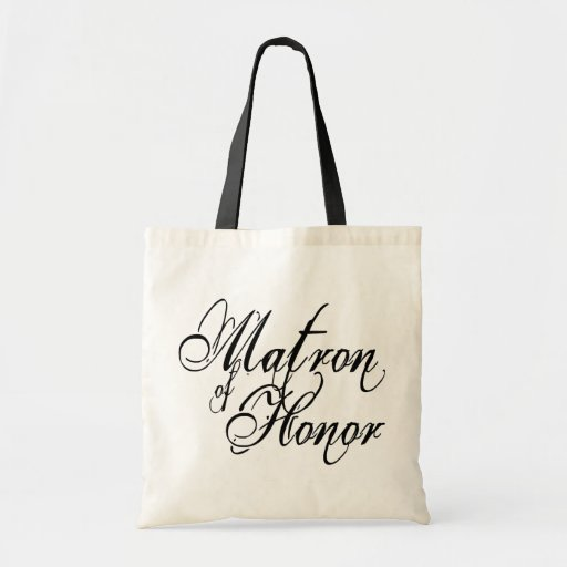 Naughy Grunge Script - Matron Of Honor Black Canvas Bag