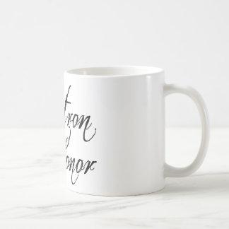 Naughy Grunge Script - Matron Of Honor Black Coffee Mug