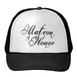 Naughy Grunge Script - Matron Of Honor Black Trucker Hat