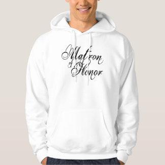 Naughy Grunge Script - Matron Of Honor Black Hoodie