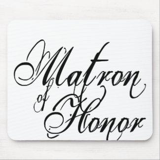 Naughy Grunge Script - Matron Of Honor Black Mouse Pad