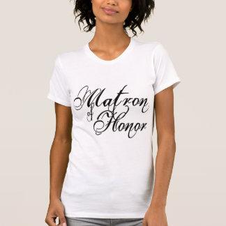 Naughy Grunge Script - Matron Of Honor Black Tee Shirt