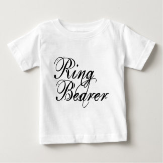 Naughy Grunge Script - Ring Bearer Black Baby T-Shirt