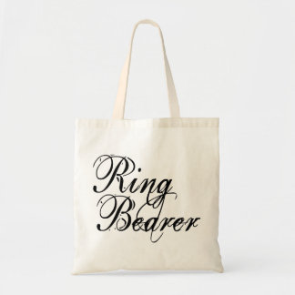 Naughy Grunge Script - Ring Bearer Black Tote Bags