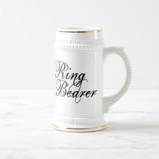 Naughy Grunge Script - Ring Bearer Black Beer Stein