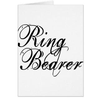 Naughy Grunge Script - Ring Bearer Black Card