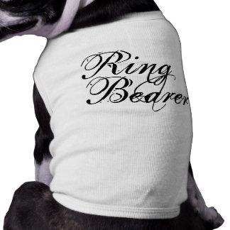 Naughy Grunge Script - Ring Bearer Black Pet Clothes
