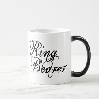 Naughy Grunge Script - Ring Bearer Black Mug