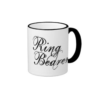 Naughy Grunge Script - Ring Bearer Black Coffee Mug
