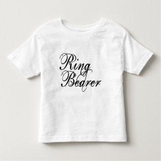 Naughy Grunge Script - Ring Bearer Black Toddler T-shirt