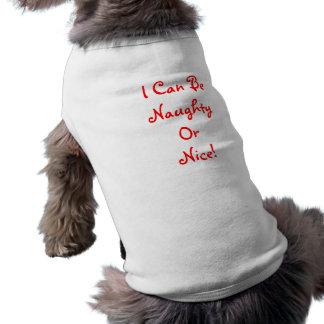 Naughy o Niza - camiseta del campanero de la ropa  Camiseta De Perrito