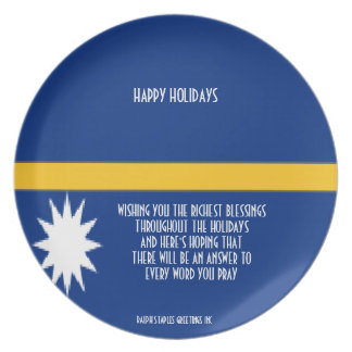 NAURA HAPPY HOLIDAYS PLATE