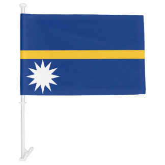 Nauru Car Flag