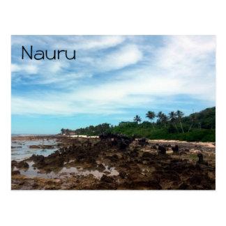 Nauru costero tarjeta postal
