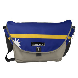 Nauru Flag Courier Bag
