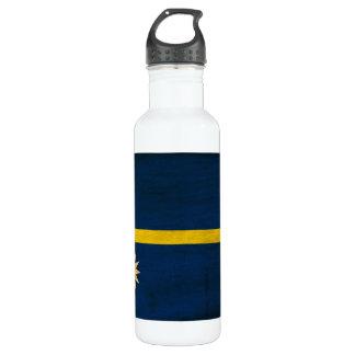 Nauru Flag Stainless Steel Water Bottle