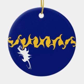 Nauru Gnarly Flag Ceramic Ornament
