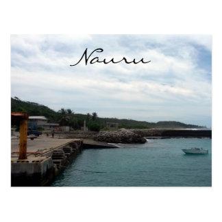nauru harbour front postcard