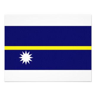 Nauru National Flag Personalized Announcement
