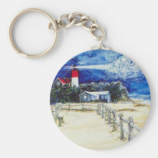 Nauset Light Conferring with the Moon Key Chain