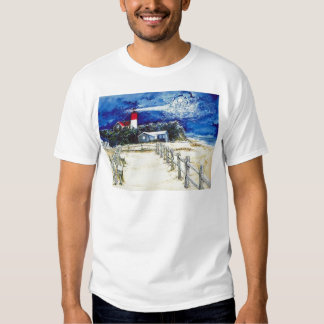 Nauset Light Conferring with the Moon T Shirt