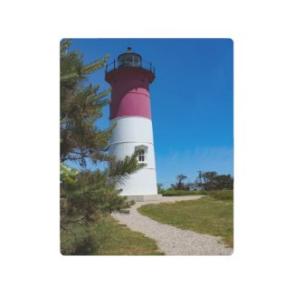Nauset Lighthouse Cape Cod Metal Print