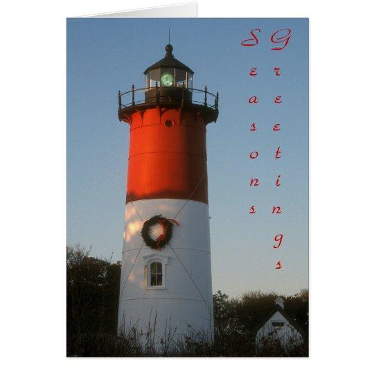 Nauset Lighthouse Season's Greetings Card