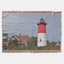 Nauset lighthouse throw blanket
