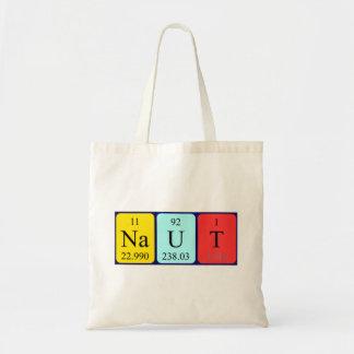 Naut periodic table name tote bag