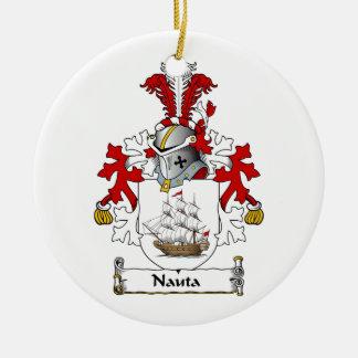 Nauta Family Crest Christmas Tree Ornament