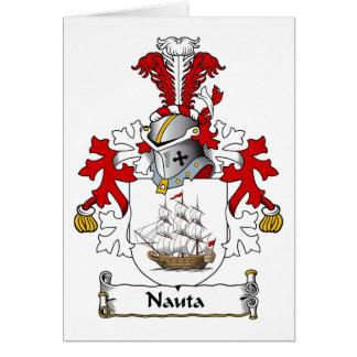 Nauta Family Crest Greeting Cards