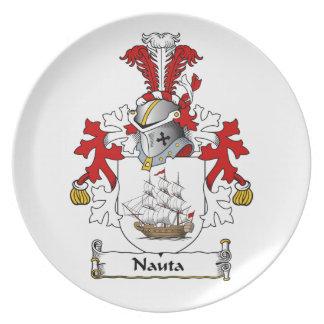 Nauta Family Crest Party Plates