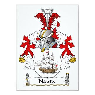 Nauta Family Crest Personalized Announcement