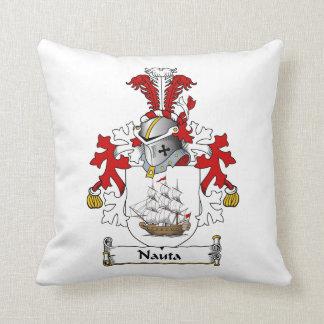 Nauta Family Crest Throw Pillow